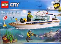 LEGO City 60221 Tauchyacht Yacht Boot Schiff Taucher Schwertfisch Krebs  NEU