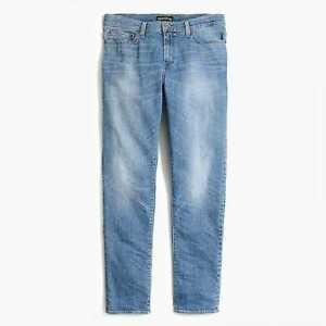 J Crew Men's 100% Genuine Blue Jeans Athletic fit flex jean in Walker wash