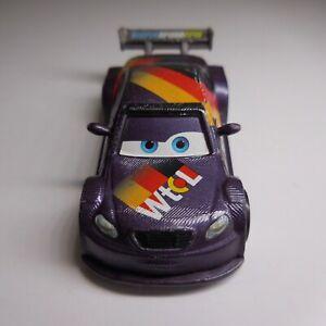 Voiture miniature course violet Disney PIXAR Mattel WORLD Grand Prix N6095