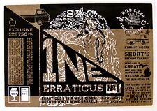 Short's Brewing Co 1NE - ERRATICUS NO. 1 beer label MI 650ml Wild Cider Series