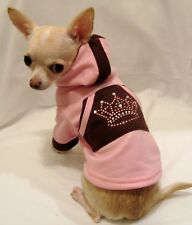 Dog Hoodie/Dog Clothes/Pink Royalty Bling Hoodie/FREE SHIPPING Size MEDIUM ONLY