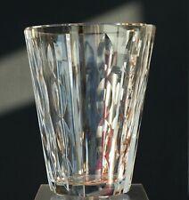 Art Deco Kristall Vase signiert Daum Nancy France Lothringer Kreuz um 1930 !!!