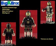 IRON MAN Mark 20 PYTHON Marvel Custom Printed Lego Minifigure No Decals Used!