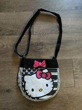 Hello Kitty Sanrio Shoulder Crossbody Bag Purse Gray Black