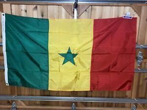 Senegal ANNIN Nyl-Glo Nylon Olympics Country Flag 3x5' World Cup Soccer Made USA
