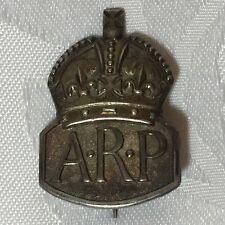 WW2 ARP Badge: Hallmarked Silver - London / JC - Date Letter C
