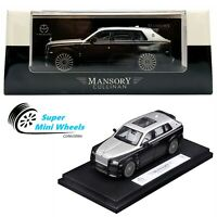 Time Model 1:64 Rolls Royce Mansory Cullinan 2020 (Black/Silcer)