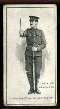 Tobacco Card, Imperial Canada, INFANTRY TRAINING, 1915, Unfix Bayonets, #21