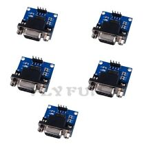 5pcs MAX3232 RS232 to TTL Serial Port Converter Module DB9 Connector MAX232
