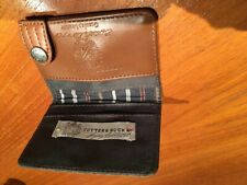 Cutter and Buck Bifold Leather ID Credit Card With Window Case, NEW