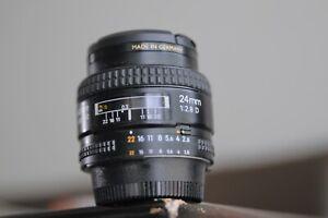 Nikon AF 24mm 2.8 D Lens FX Nikon D70,80,90,200,300,600,700,750,800,810 ,7000