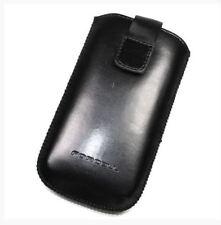 Housse Etui Pochette façon cuir noir pour mobile 128 X 67mm ASUS