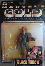 "Marvel's Gold Collectors Edition BLACK WIDOW Action Figure 1997 ToyBiz 5.2"""
