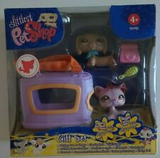HASBRO LITTLEST PETSHOP BLISTER PACK dog chien basset cat chat N° 932 933 NEUF
