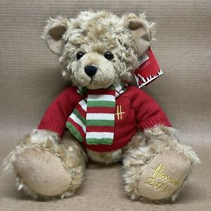 Harrods Collectible Christmas Bear Plush 2010 Archie Holiday Stuffed 12'' w/Tags