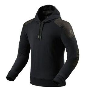 New REV'IT Cedar Hoodie Mens S Black #FSO017-0010-S