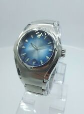 Fossil Blue AM 3709 men's watch solid stainless steel blue AM-3709 analog 5 ATM
