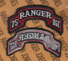 US ARMY 75th Infantry Airborne Ranger Regiment uniform scroll patch m/e
