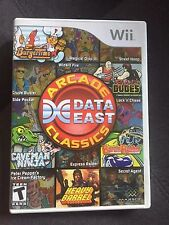 Data East Arcade Classics (Nintendo Wii, 2010) game complete manual disc box