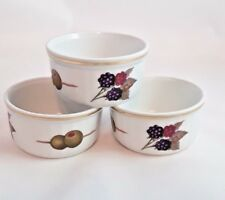 ROYAL WORCESTER Evesham RAMEKINS Fine China Oven To Table 1961