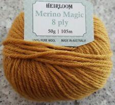Heirloom Merino Magic 8 Ply #218 Golden Ochre 100% Wool