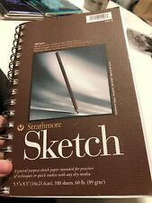 """Strathmore Sketch Spiral Paper Pad 5.5""""X8.5"""" 100 Sheets 012017455087"""