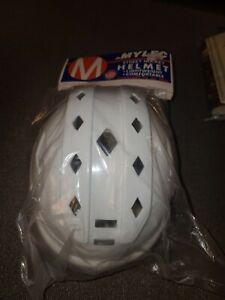 NEW VINTAGE Mylec Street Hockey Helmet with Chinstrap White Adult Style 150