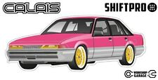 VL Calais Holden Commodore Sticker - Pink with Gold Simmon Rims - ShiftPro Brand
