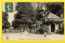 cpa de 1913 FRANCE 92 - PUTEAUX Station des TRAMWAYS Entrée du BOIS de BOULOGNE