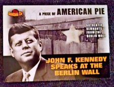 2001 Topps American Pie Relics #PAPM2 JFK/Berlin Wall John F. Kennedy