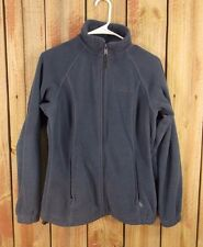 Columbia Fleece Jacket Full Zip Polyester Gray Women's Size S