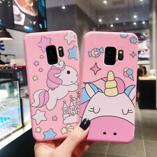 Cute Cartoon Unicorn Soft TPU Phone Case Cover For Samsung S8 S9 S10 Note 9 10