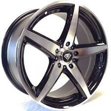18x7.5 White Diamond w-244 5x105/110 Black Machined Wheels +35mm 73.1CB