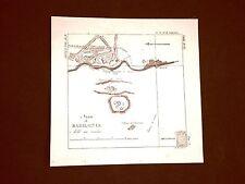 Incisione in rame del 1846 Area di Babilonia Domenico Bonatti - Cesare Cantù