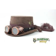 Steampunk Cappello con Occhiali -Gotic Steampunk Marrone