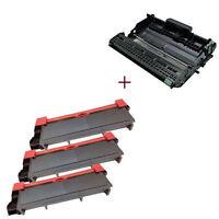4PK (3TN660+DR630) Toner Cartridge Drum for Brother HL-L2380D L2320D MFC-L2700DW