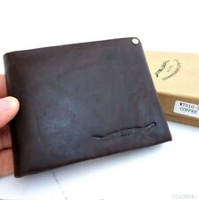 Men's Full Leather wallet 3 Credit Card Slots 3 Bill Compartments 1 id window s
