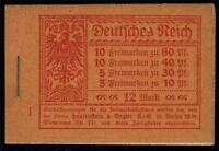GERMANY REICH MICHEL# MH 15 MINT NH COMPLETE UNEXPLODED BOOKLET AS SHOWN