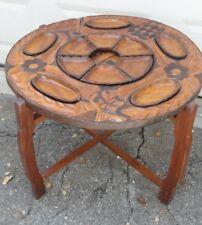 Fantastic Carved Mahogany Coffee Table ~ Haiti