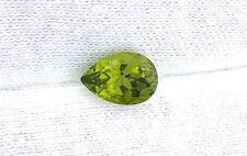 2.19 Carat Pear 10x7 10mm x 7mm  Arizona Apple Green Peridot Gem Genstone B19A89