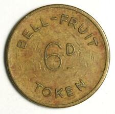 Vintage 1960s Bell Fruit Amusement Token - Decimalisation - 6d - 2 New Pence
