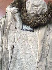 Abercrombie & Fitch by hollister Womens Khaki long Parka Jacket  Coats ~ L