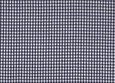 4mm Navy Blue Gingham Polycotton Fabric (115cm wide)