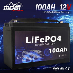 MOBI 100AH 12V LiFePO4 Deep Cycle Lithium Iron Phosphate Battery Replace AGM