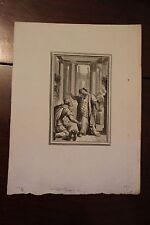 ✒ 1762 EISEN Jean de LA FONTAINE Le petit chien argent etc FERMIERS GENERAUX