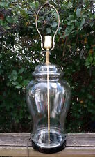 Vintage Clear Glass Large Table Lamp Empty Display Container Sea Glass Lamp