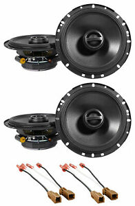 """Alpine S Front+Rear 6.5"""" Speaker Replacement Kit For 2007-2012 Nissan Altima"""