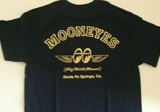 Mooneyes T-Shirts, Fly With Moon Navy 100% Cotton  Chev Ford Mopar NHRA