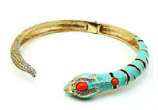 Anna Dello Russo at H&M Snake Choker Turquoise Statement Necklace, RUNWAY PIECE