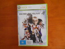 XBOX 360 DEAD OR ALIVE 4 DISC IN  V GD COND - FAST POST